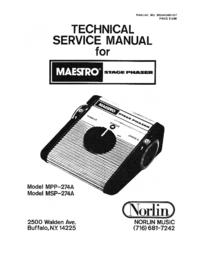 Manual de servicio Norlin MPP-274A