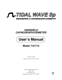 Manual do Usuário Novametrix TIDAL WAVE Sp Model 710