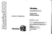 Manuale d'uso Oberheim Matrix-1000