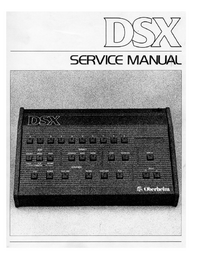 Service Manual Oberheim DSX
