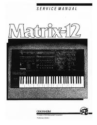 Руководство по техническому обслуживанию Oberheim Matrix-12
