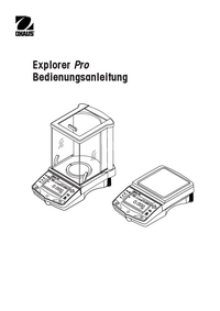 User Manual Ohaus Explorer Pro