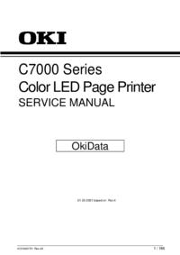 Руководство по техническому обслуживанию Okidata C7000