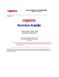 Serviceanleitung Okidata OKIFAX 5600