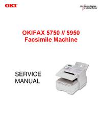 Руководство по техническому обслуживанию Okidata OKIFAX 5950