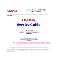 Instrukcja serwisowa Okidata OKIJET 2020