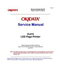 Manuale di servizio Okidata OL810