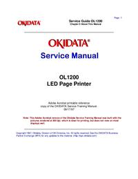 Servicehandboek Okidata OL1200
