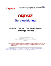 Service Manual Okidata OL410e-PS