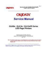 Руководство по техническому обслуживанию Okidata OL600e