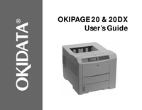 User Manual Okidata OKIPAGE 20DX