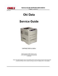 Manuale di servizio Okidata OKIPAGE 24DXn