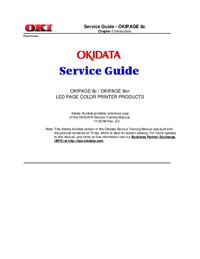 Servicehandboek Okidata OKIPAGE 8cn