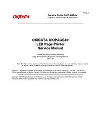Manual de serviço Okidata Okipage 4w