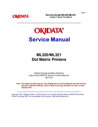 Manual de servicio Okidata ML320