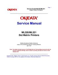 Serviceanleitung Okidata ML321
