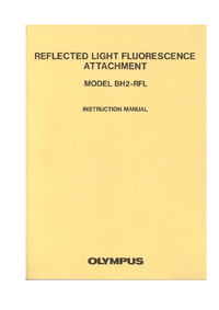 User Manual Olympus BH2-RFL