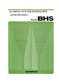 User Manual Olympus BHS