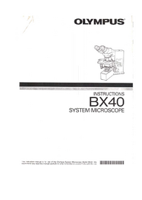 Manual del usuario Olympus BX-40