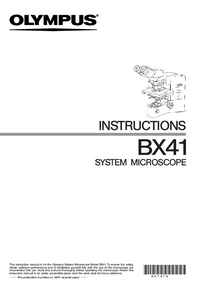 Manuel de l'utilisateur Olympus BX41