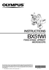 Manual do Usuário Olympus BX51WI