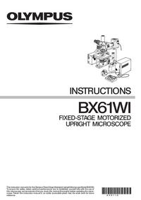 Manual do Usuário Olympus BX61WI