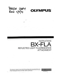 Manual del usuario Olympus BX-FLA