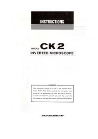 Руководство пользователя Olympus CK2