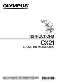 Bedienungsanleitung Olympus CX21
