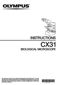 Instrukcja obsługi Olympus CX31