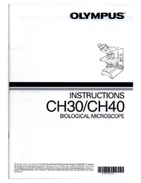 User Manual Olympus CH30