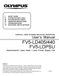 Manuale d'uso Olympus FV5-LD405