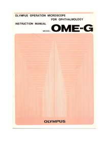 User Manual Olympus OME-G