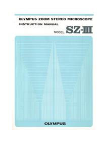 Bedienungsanleitung Olympus SZ-III