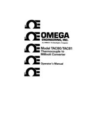 Manuel de l'utilisateur Omega Tac 81