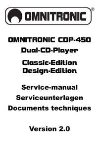 Service Manual Omnitronic CDP-450