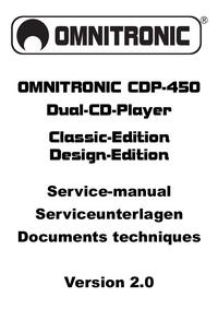 Servicehandboek Omnitronic CDP-450