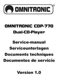 Руководство по техническому обслуживанию Omnitronic CDP-770