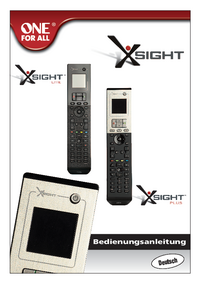 User Manual Oneforall Xsight Plus