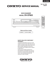 Service Manual Onkyo DV-CP802