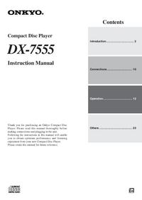 Manual do Usuário Onkyo DX-7555