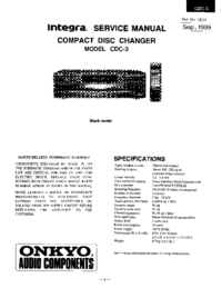 Service Manual Onkyo CDC-3