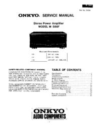 Service Manual Onkyo M-588F