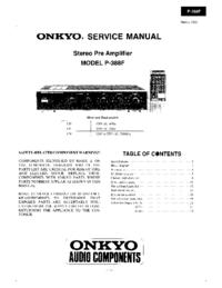 manuel de réparation Onkyo P-388F