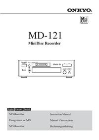 Manual del usuario Onkyo MD-121