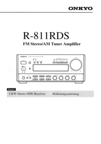 Manuale d'uso Onkyo R-811RDS