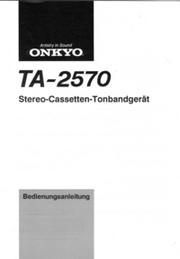 Manual del usuario Onkyo TA-2570