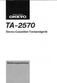 User Manual Onkyo TA-2570