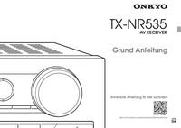 User Manual Onkyo TX-NR535