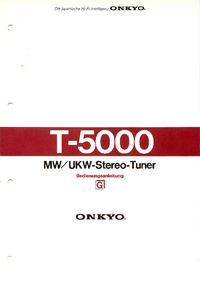 Manual do Usuário, Cirquit Diagrama Onkyo T-5000